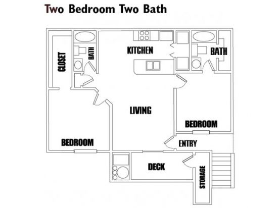 Two Bedroom,Two Bathroom | Turnberry Apartments - Salt Lake City, Utah