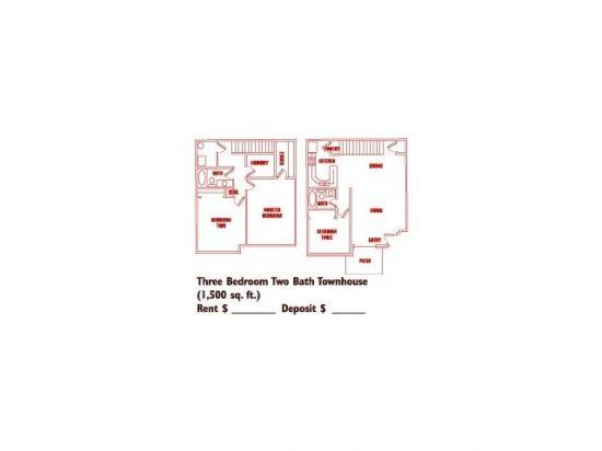 Three Bedroom Townhouse | Turnberry Apartments - Salt Lake City, Utah