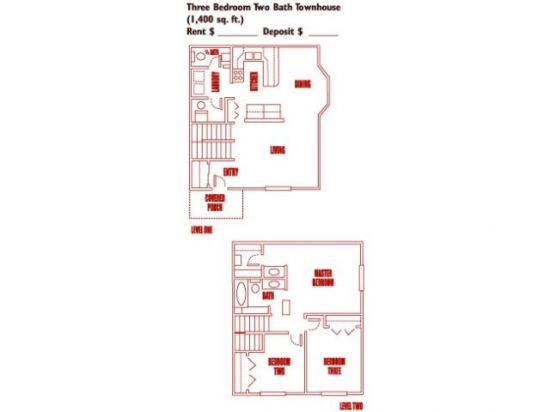 Gordon Lane Apartments - Salt Lake City, Utah | Three Bedroom Townhouse