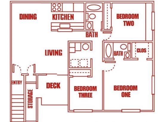 Highland Pointe Apartments - Salt Lake City, Utah | Three Bedroom