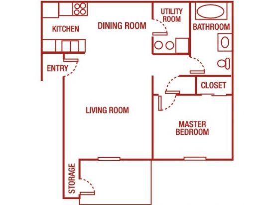 Elk Run Apartments - 1 Bedroom 1 Bath